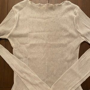 NWOT sheer long sleeve top with subtle sparkle